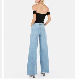 Express High Waisted Wide Leg Jeans